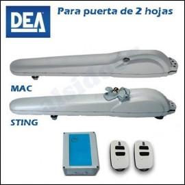 Kit motor batiente DEA MAC/STING 2 hojas hasta 5 m. residencial
