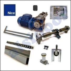 Kit NICE ROSSI 2C para puertas basculantes de 3m altura o hasta 6m(ROSSI PLUS). Transmisión doble