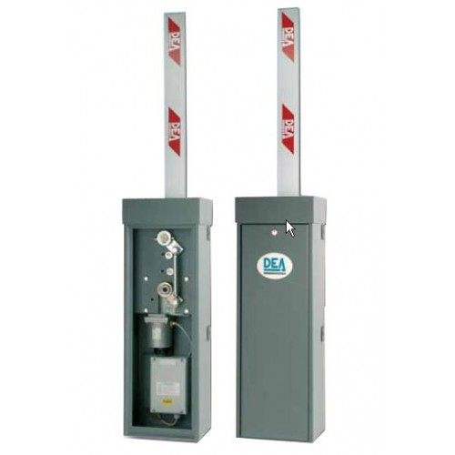 Barreras automaticas DEA STOP y PASS para parkings de vehiculos.