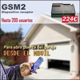 Dispositivo receptor GSM2, Abrir puertas de garaje con el movil