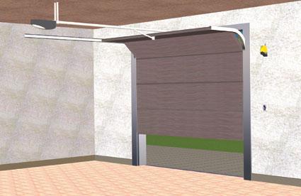 ejemplo de instalacion de puerta seccional automatica
