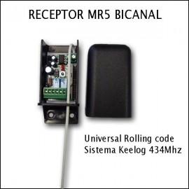 Receptor MR5 bicanal Universal Keelog 434Mhz