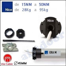 Motor NICE ERA M DE 15 NM A 50 NM. Via cable
