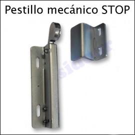 Pestillo mecánico STOP para bloqueo de puerta de 2 hojas