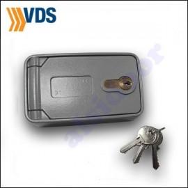 Desbloqueo exterior VDS de motor enrollable con cerradura y pulsador