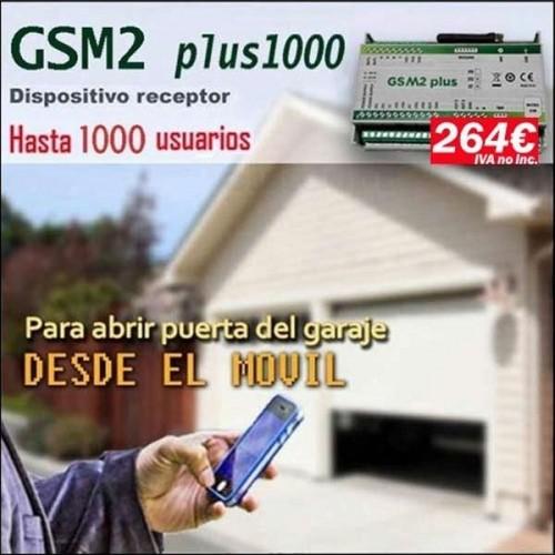 Dispositivo receptor GSM2 plus1000, Abrir puertas de garaje con el movil
