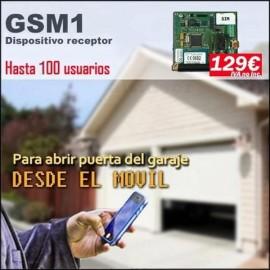 Dispositivo receptor GSM1, Abrir puertas de garaje con el movil