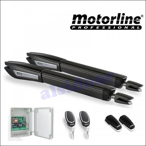 Kit batiente MOTORLINE JAG400 10m 2 hojas. Uso residencial