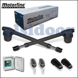 Kit batiente MOTORLINE LINCE400-300 2 hojas hasta 6-5m. Uso residencial