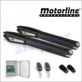 Kit Motorline PERSA 230V 2 Hojas, puerta hasta 6m