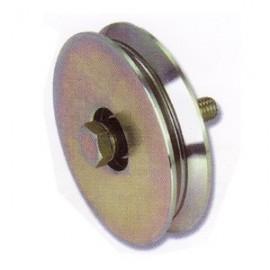 Rueda canal angulo de 80 mm. para puerta corredera lateral.
