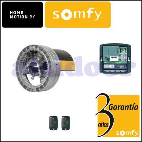 Kit Motor enrollable SOMFY para 150 Kg. con dos mandos.
