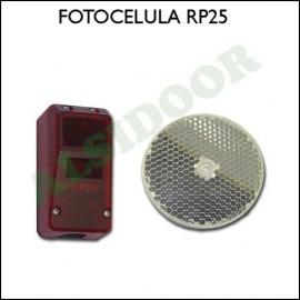 Fotocelula RP25 de espejo catadioptrico hasta 12 m.